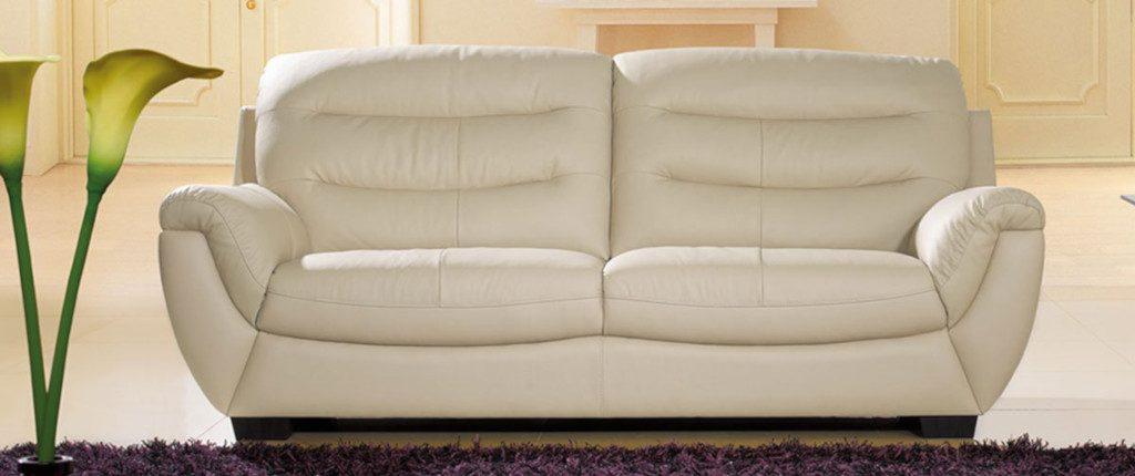 canapé en cuir beige